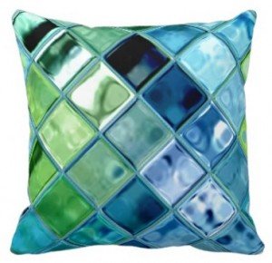 Teal throw pillows