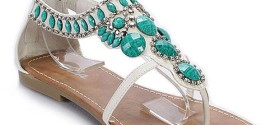 Teal and Turquoise Sandal