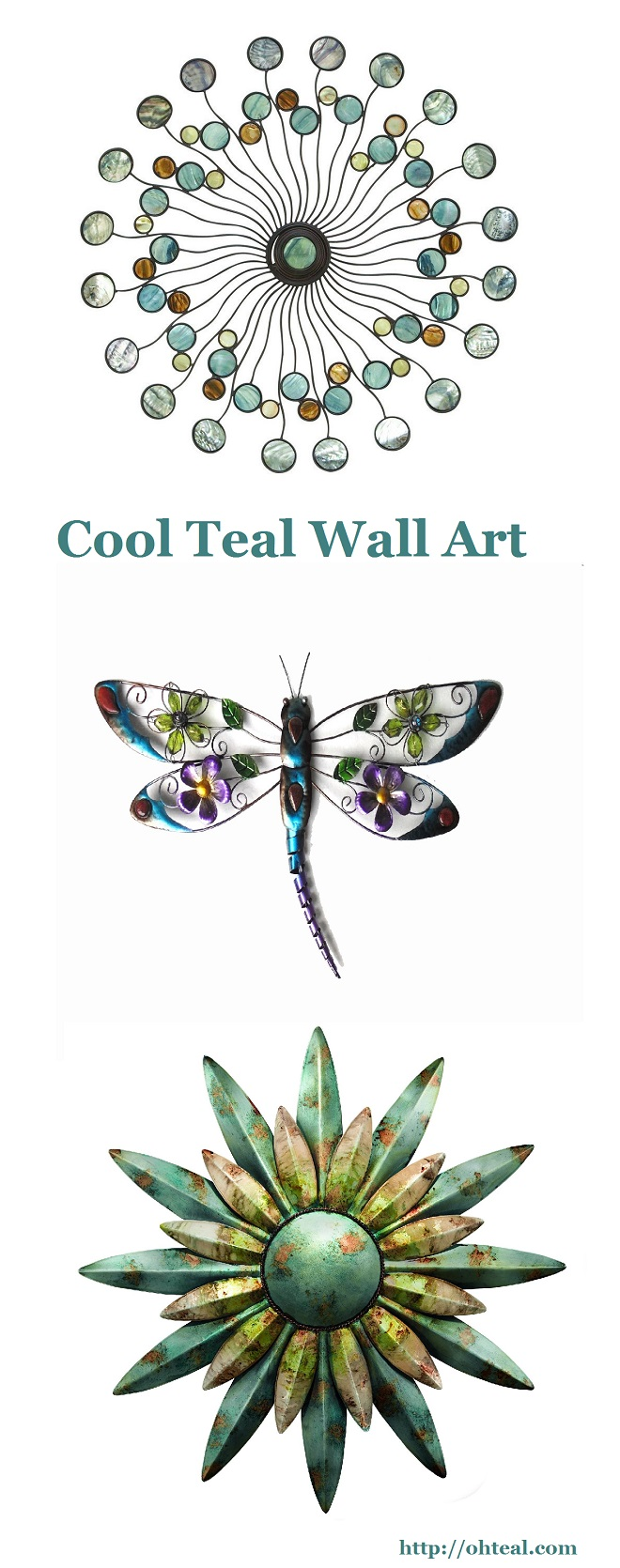 Cool Teal Wall Art