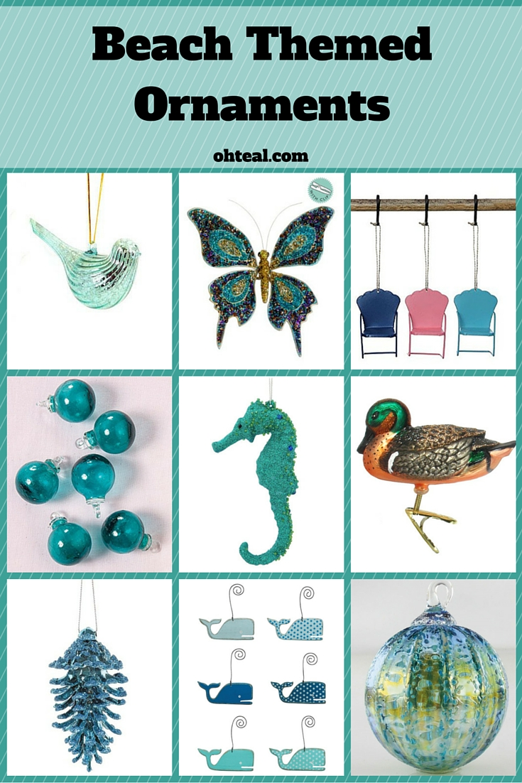 Beach Themed Ornaments