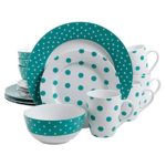 Isaac Mizrahi Dot Luxe 16-Piece Dinnerware Set