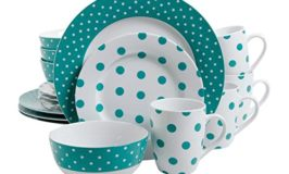 Isaac Mizrahi Dot Luxe 16-Piece Dinnerware Set