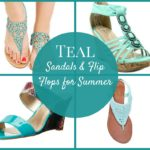 Teal Sandals and Flip Flops for Summer