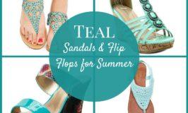 Teal Sandals and Flip Flops for Summer