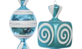 Teal Candy Ornaments