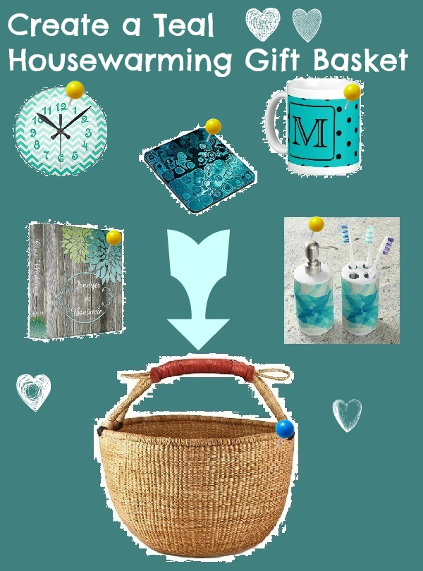 Create a Teal Housewarming Gift Basket